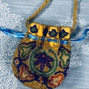 Handbags - Beaded mini drawstring bag